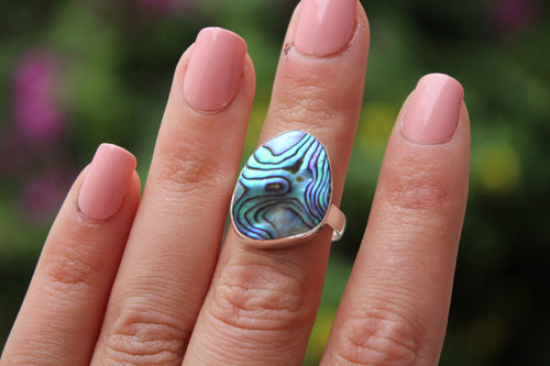 Size 6; Abalone Shell Ring