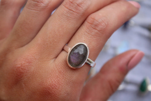 Size 10.5; Purple Labradorite Ring