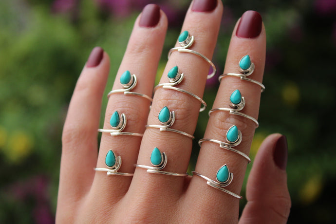 Turquoise Tear Stacker