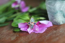 Size 8; Labradorite and Opal Goddess Ring
