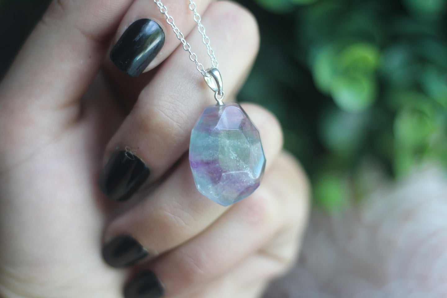 Sterling Silver Fluorite Necklace