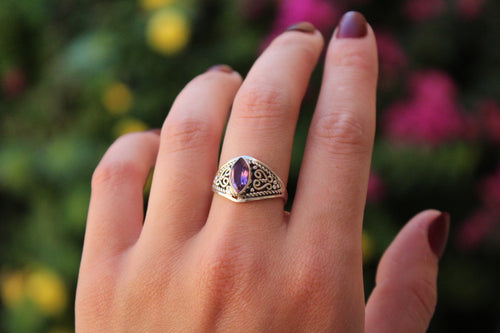 Size 8.5; Amethyst Ring