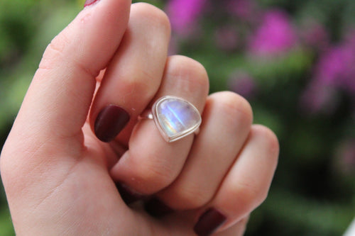 Size 6.5; Moonstone Ring