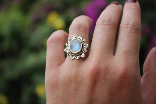Size 6; Moonstone Ring