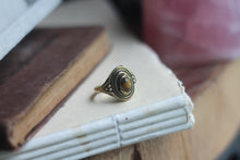 Size 8; Gold Tigers Eye Ring