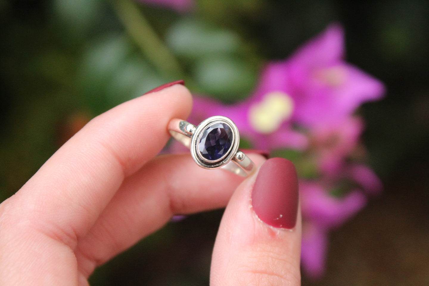 Size 9; Iolite Ring