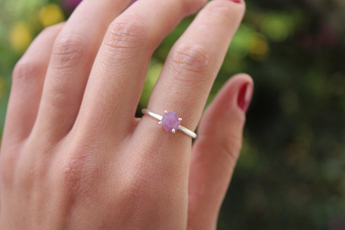 Size 7.5; Pink Sapphire Ring