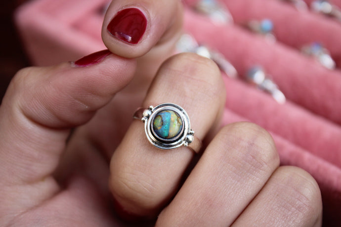 Size 7; Monarch Opal Ring