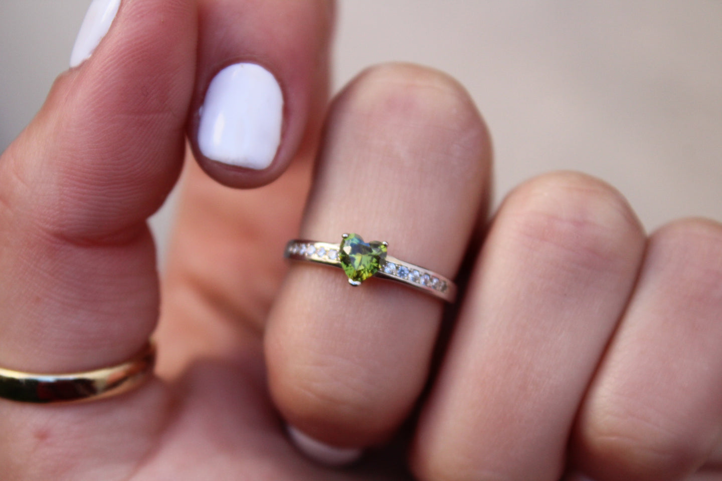 Peridot Lovers Ring