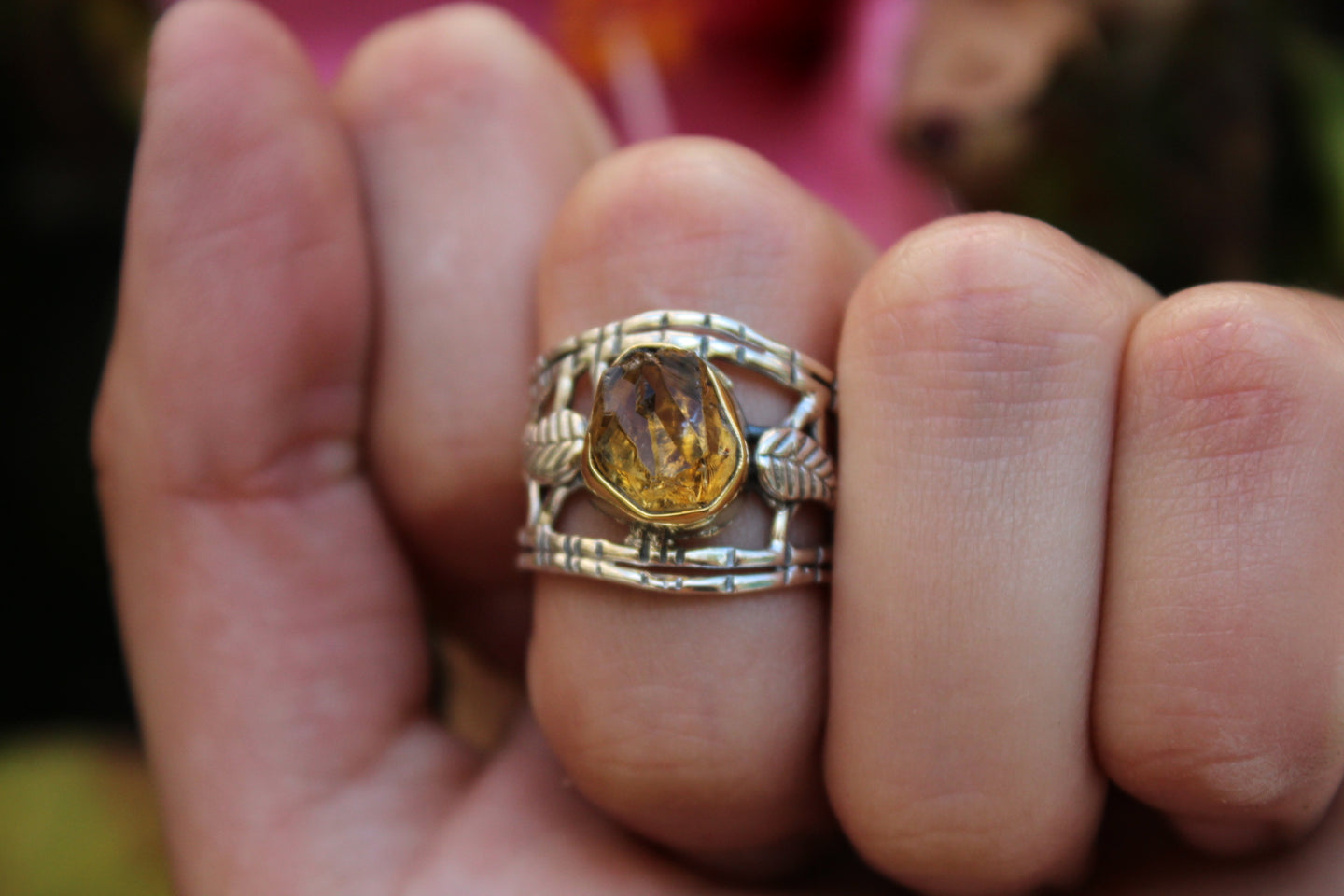 Size 6.5; Citrine Nature Ring