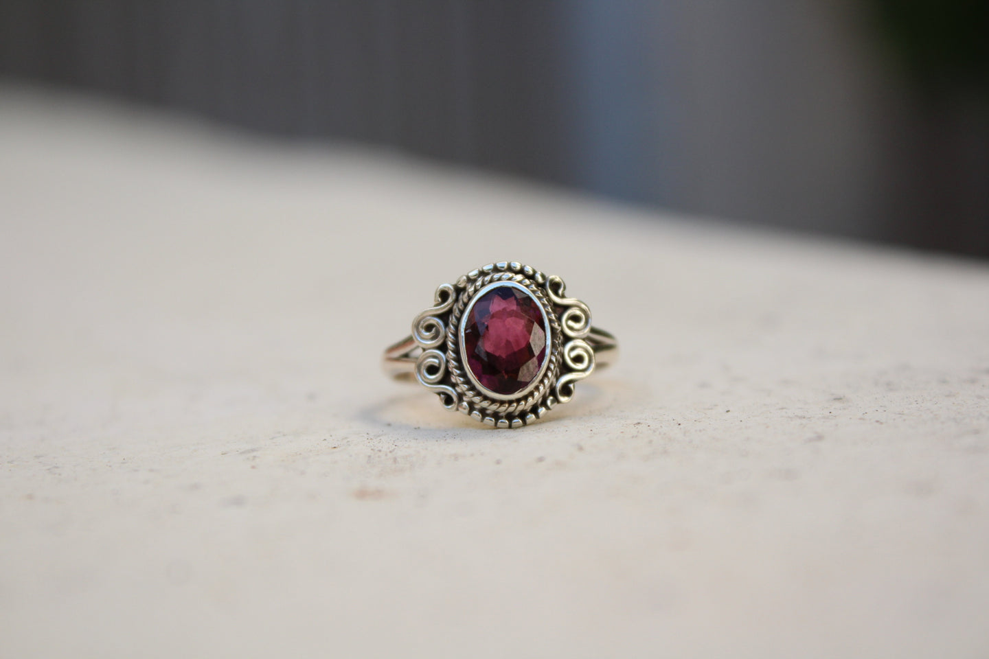 Size 7; Pink Tourmaline Ring