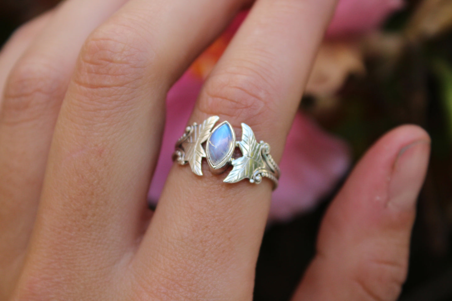 Size 7.5; Moonstone Ring