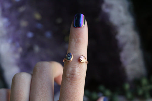 Size 6-7 ; Monarch Opal Shell Ring