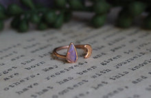 Size 6-7; Pipe Opal Moon Ring