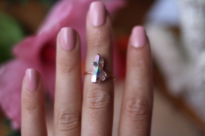 Size 6; Angel Aura Cluster Ring