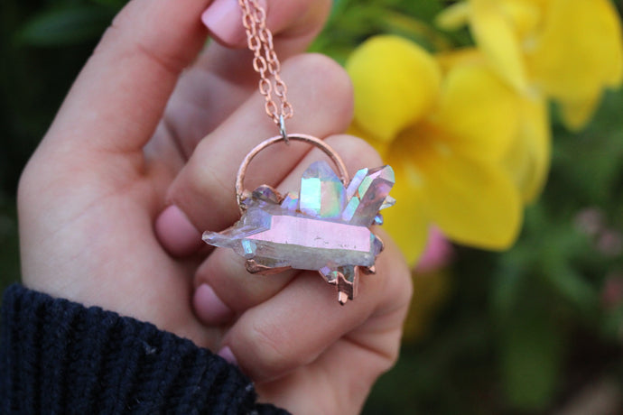 Angel Aura Cluster Necklace