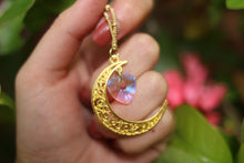 Pink Aura Moon Necklace