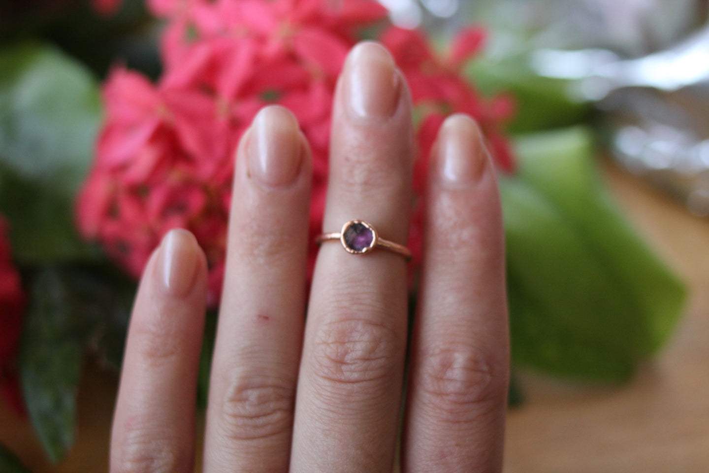 Size 4; Watermelon Tourmaline Ring