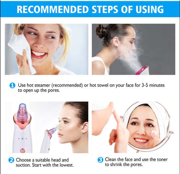 Electric Pore Cleanser and Blackhead Remover for Radiant Skin