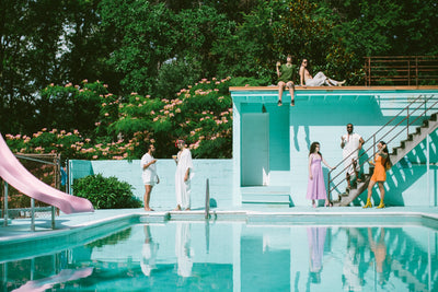 poolside pride - a slim aarons-inspired celebration