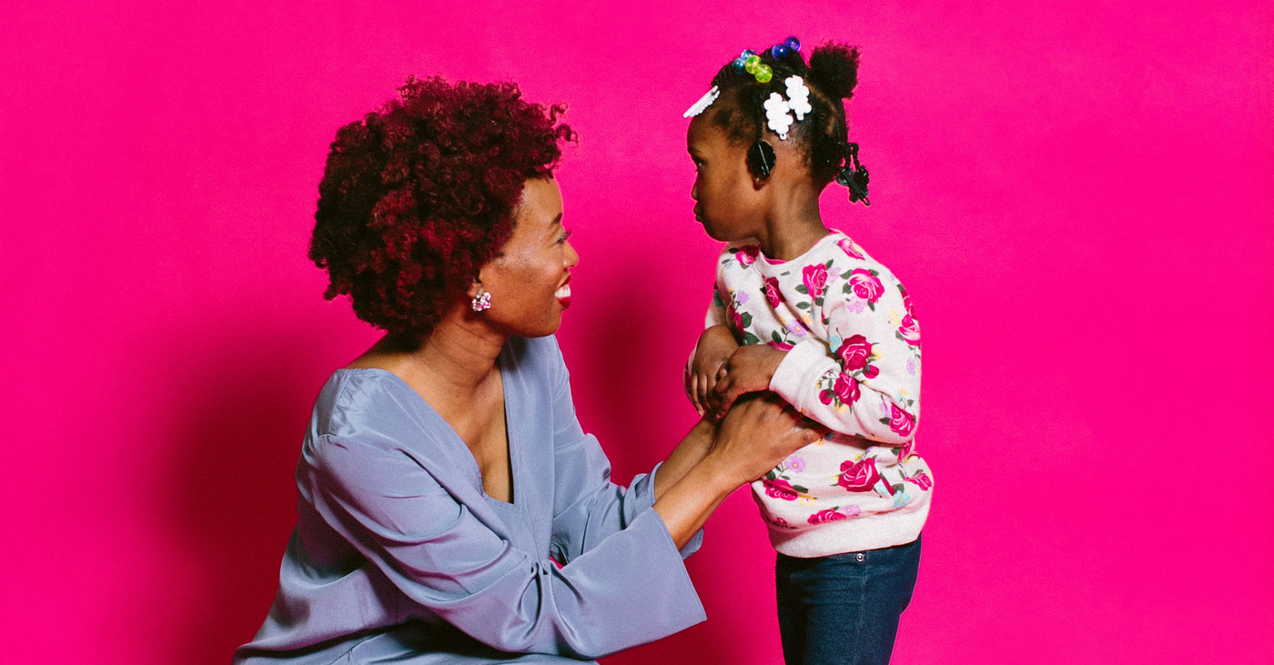 viola ratcliff + her daughter amina for basic.'s black history month feature