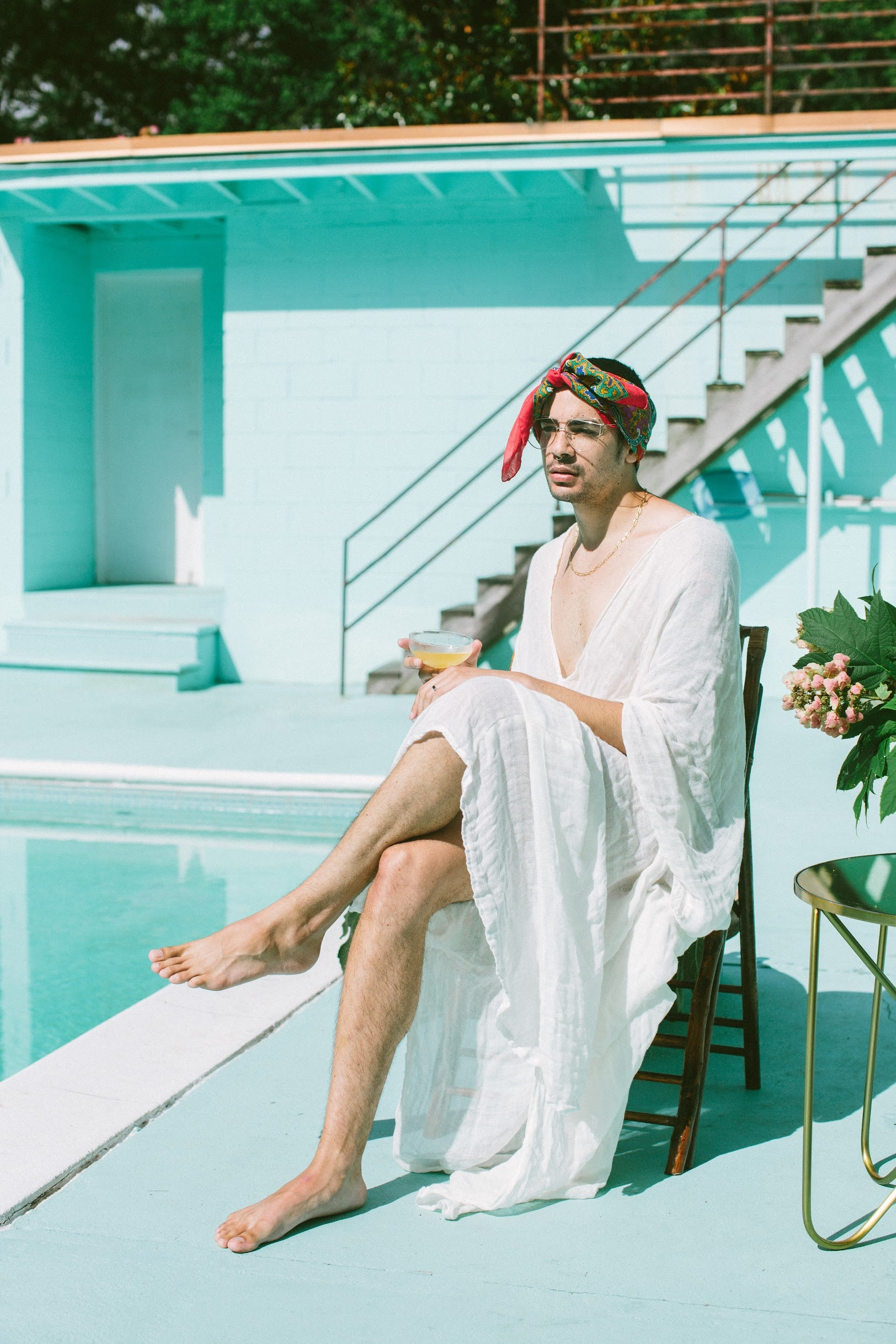 slim aarons-inspired photoshoot with lgbtq models for pride 2020