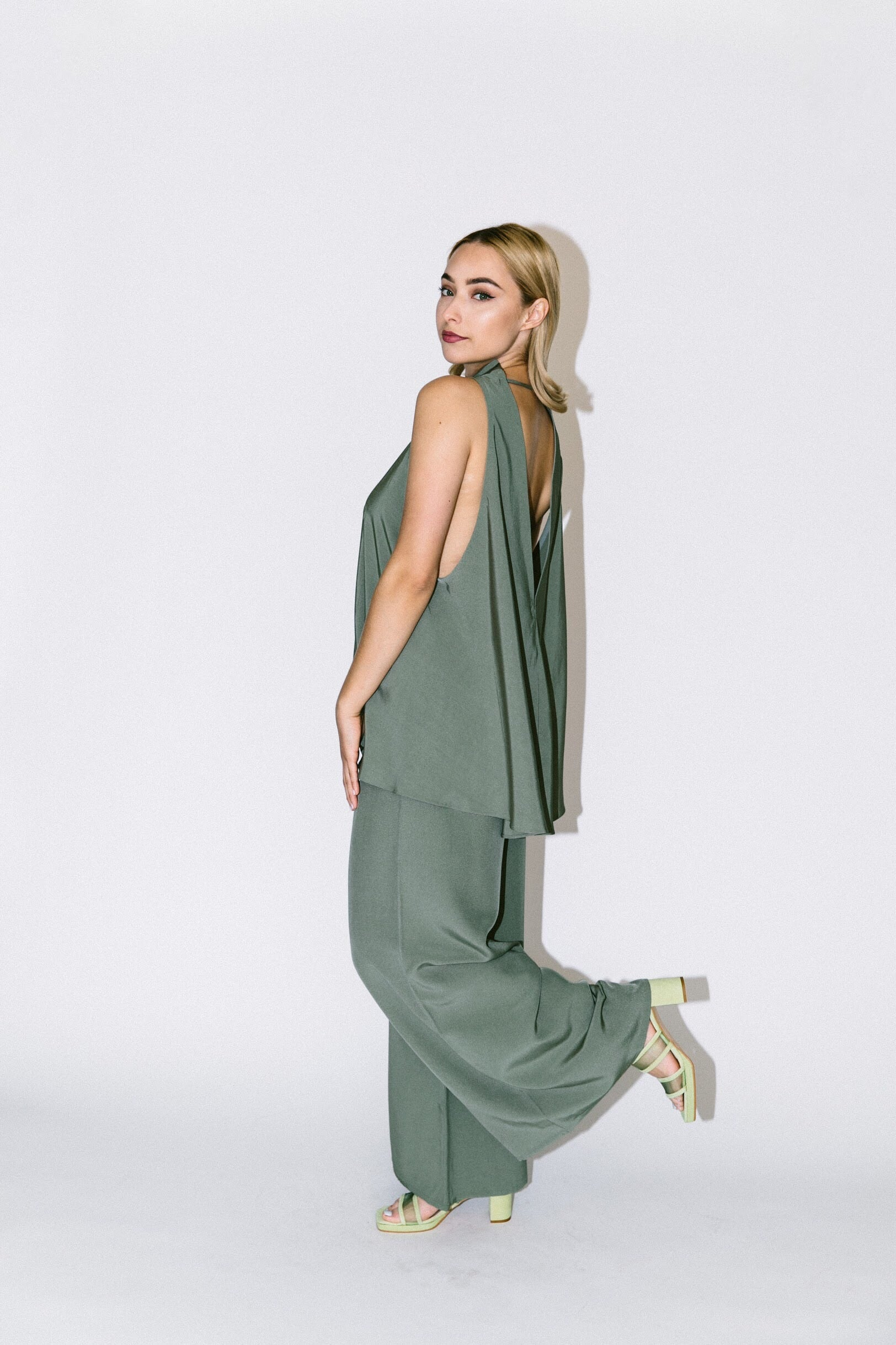 song tu wide leg silk pants