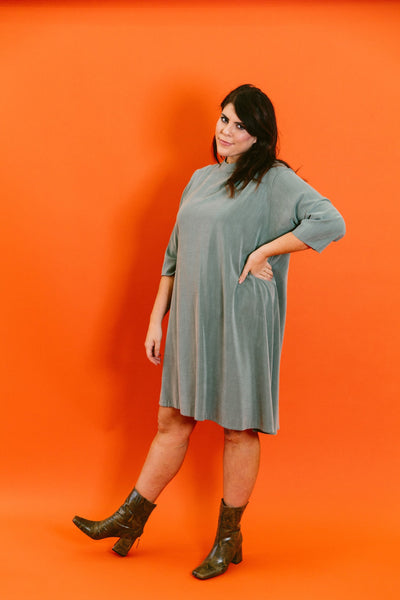 branch boxy a-line dress - basic.