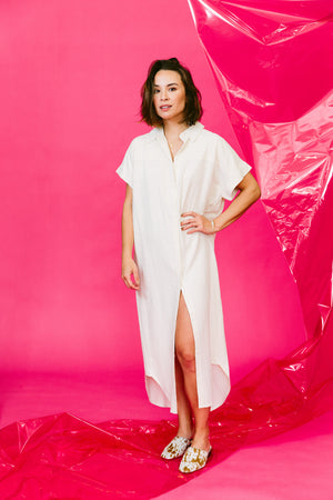 Load image into Gallery viewer, signature shirt maxi dress - basic.