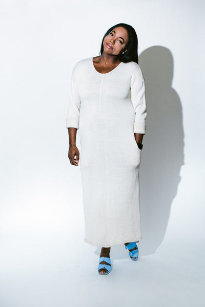 long loose blanket dress - basic.