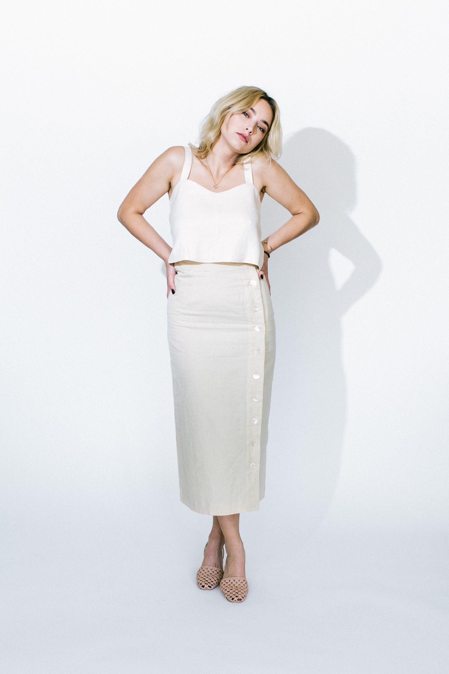transitional mother of pearl skirt