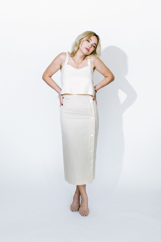 transitional mother of pearl skirt - basic.
