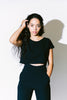 adlay back v cropped top