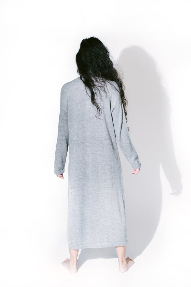 Load image into Gallery viewer, loose cardigan button dress - basic.
