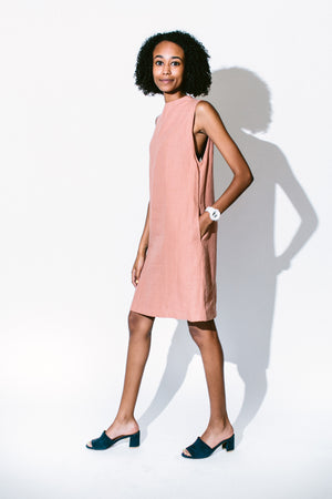 dust sleeveless pocket dress - basic.