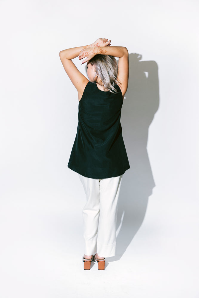 alpinia overlap side tunic top - basic.