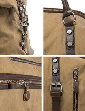 Vintage Canvas Holdall - Light Brown - Athlete Denim