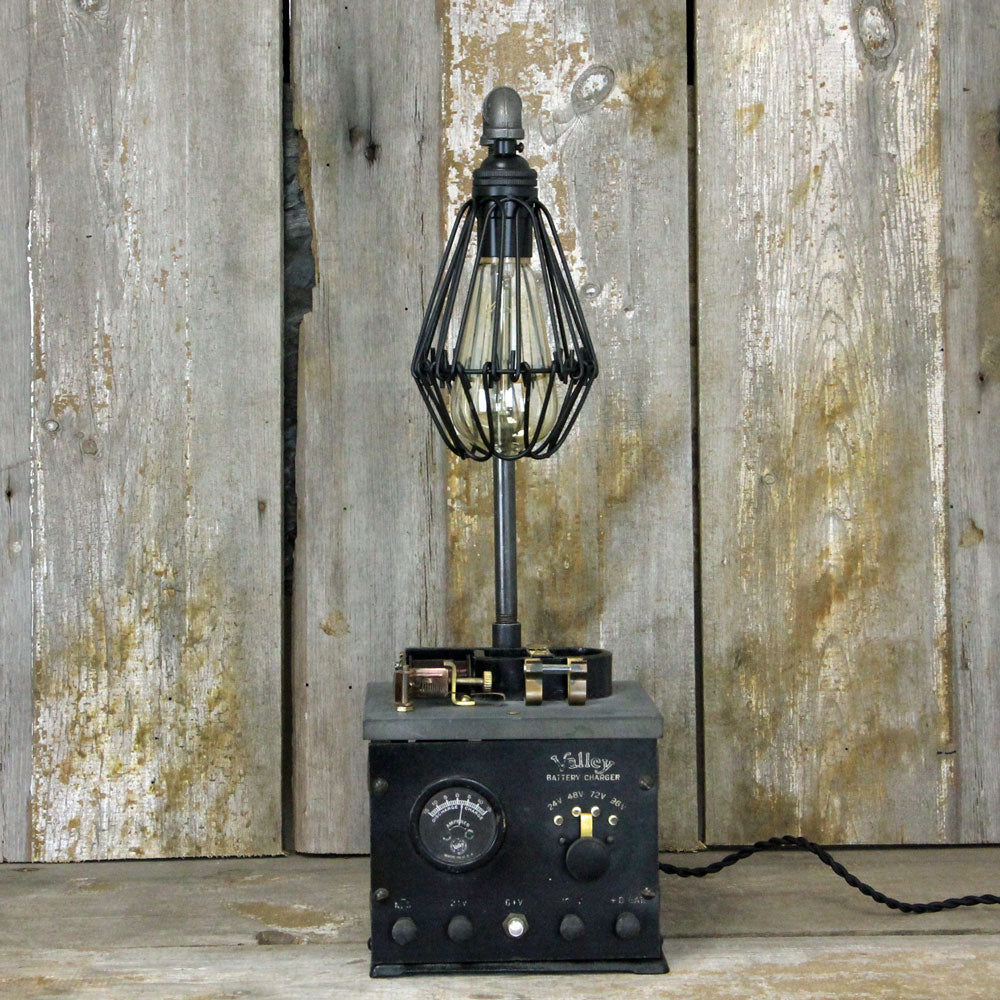 Steampunk Lamp -Industrial Table Lamp with an Interesting base - Steampunk Desk Lamp 1927 #1908