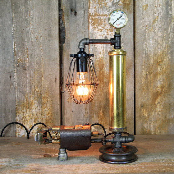 Vintage Brass Torch Lamp - A Great piece of Steampunk lighting #1912 - The Lighting Works