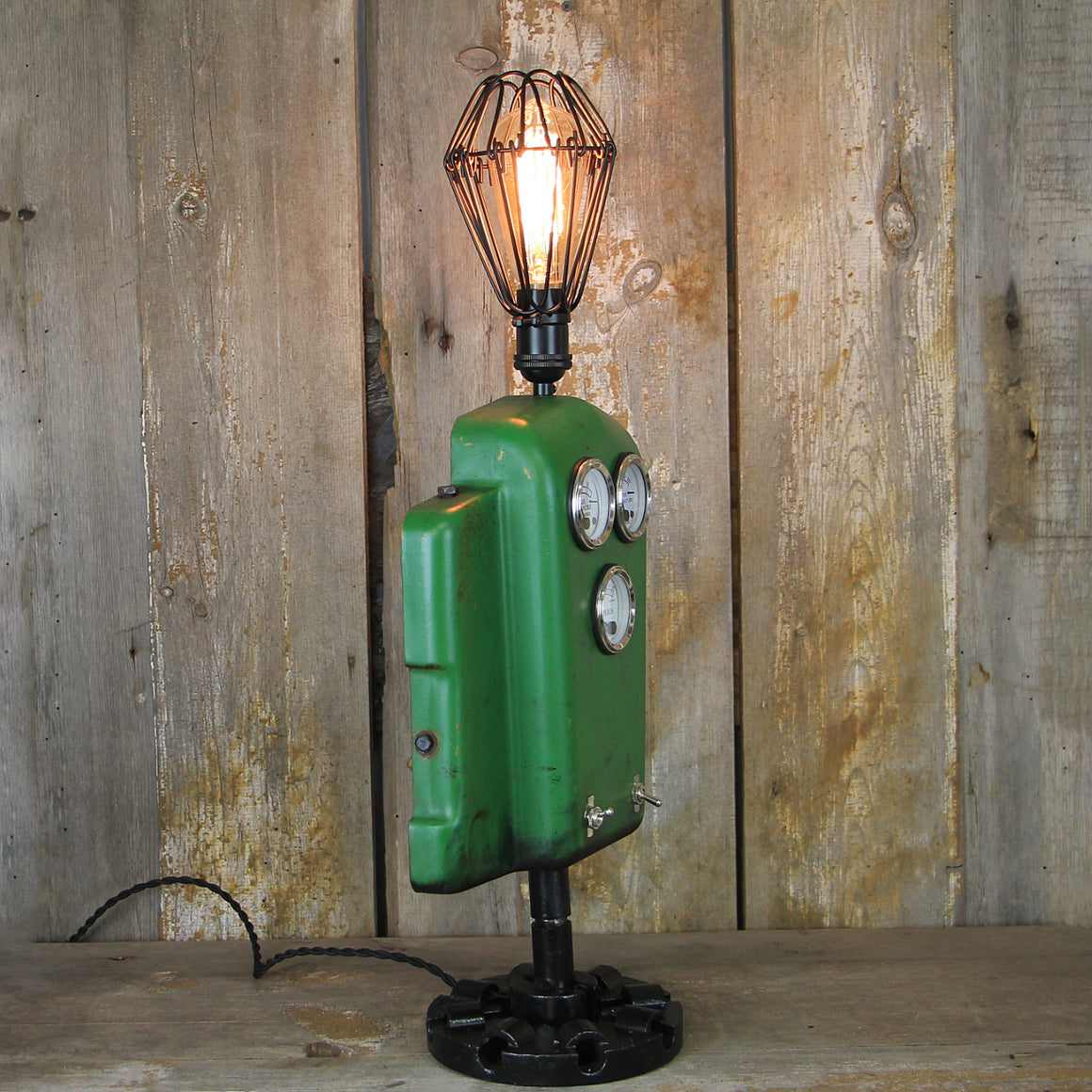 Steampunk Table Lamp made from vintage John Deere parts - Perfect for any Steampunk Decor #1915 - The Lighting Works