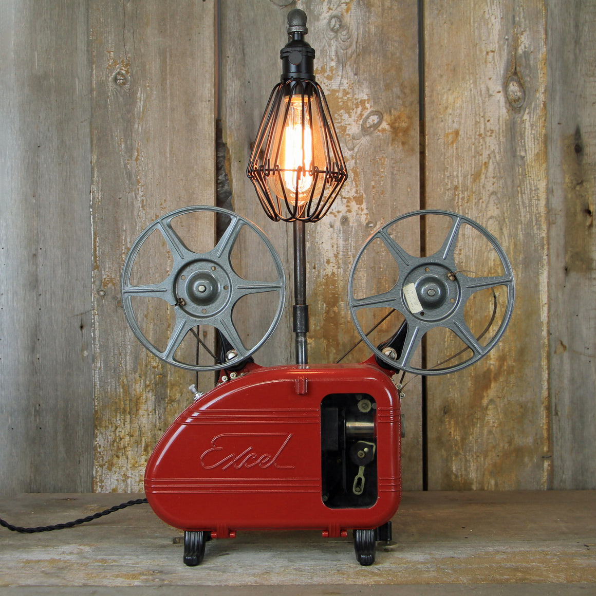 Projector Desk Lamp with Art Deco Styling - Steampunk Table Lamp - A Great Movie Lovers Lamp #1924 - The Lighting Works