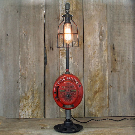 Steampunk Lamp  Fire Alarm Pull Box Desk Lamp  No.1996 - The Lighting Works