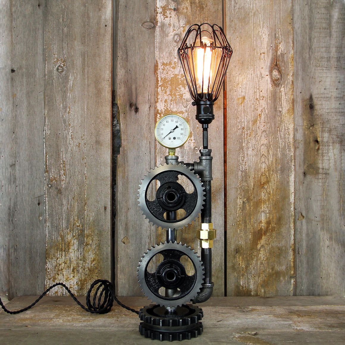 Industrial Steampunk Table Lamp No. 2001 - The Lighting Works