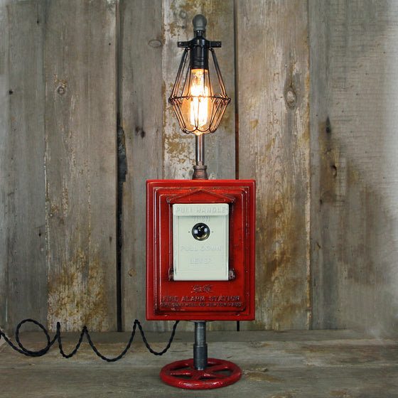 Fire Alarm Pull Box Table Lamp  No.410 - The Lighting Works