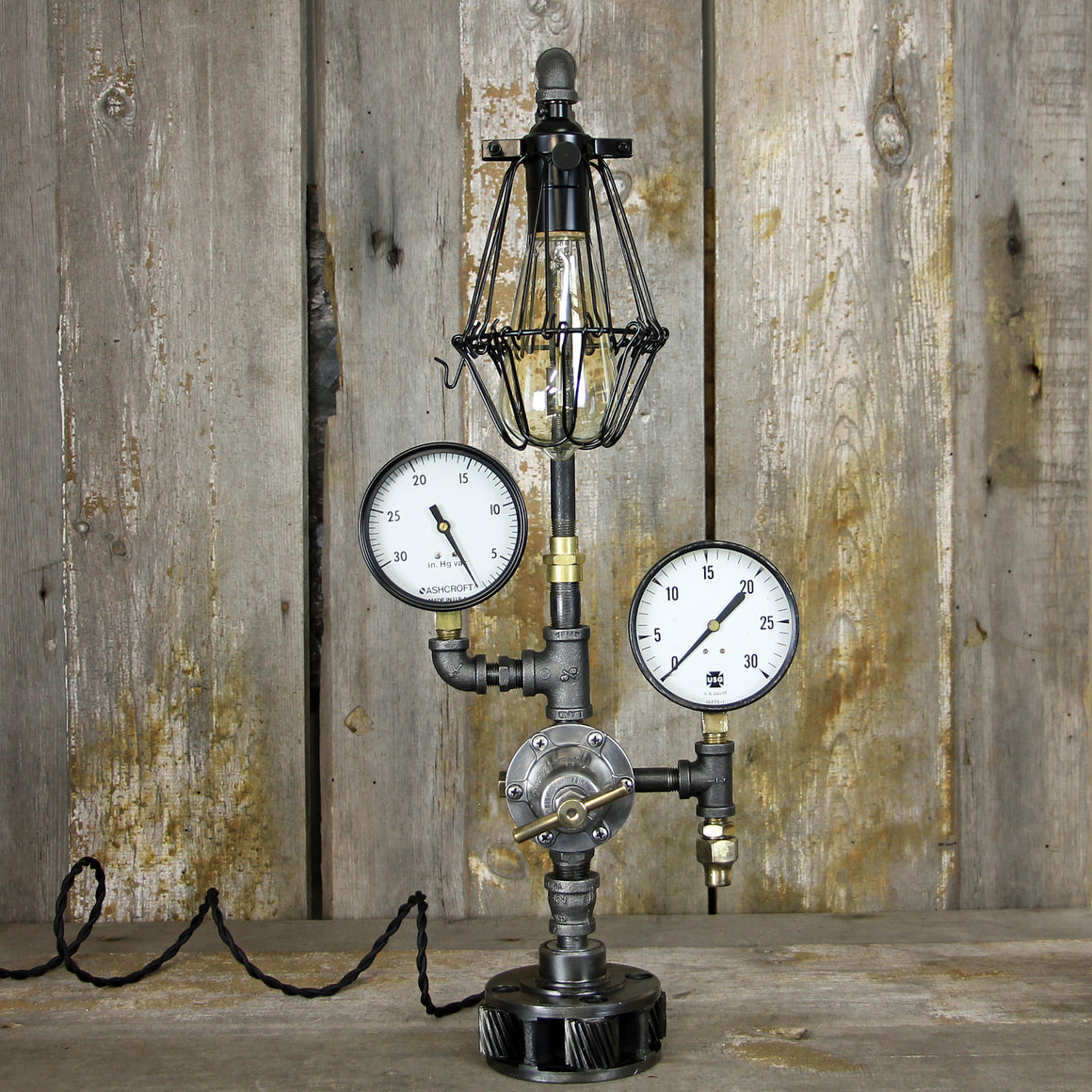 Industrial Steampunk Table Lamp + No. 2006 - The Lighting Works