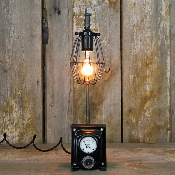 Industrial Table Lamp with an Interesting Steampunk base No. 2008 - The Lighting Works