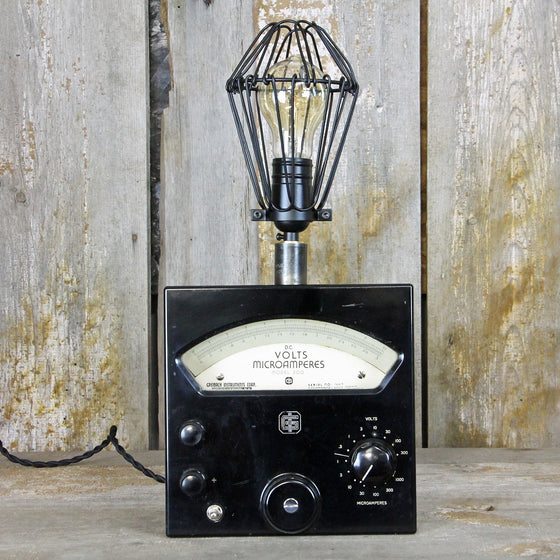 Steampunk Lamp -Industrial Table Lamp with an Interesting base No. 2009 - The Lighting Works