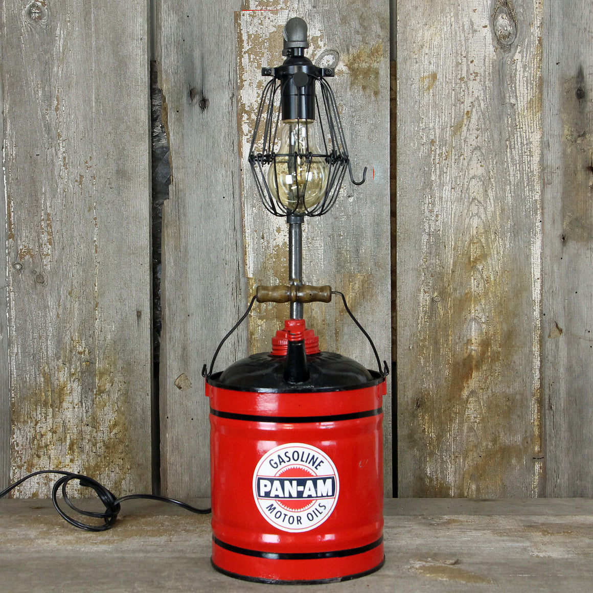 Industrial Gas / Oil Can Table - Desk Lamp No. 2014 - The Lighting Works