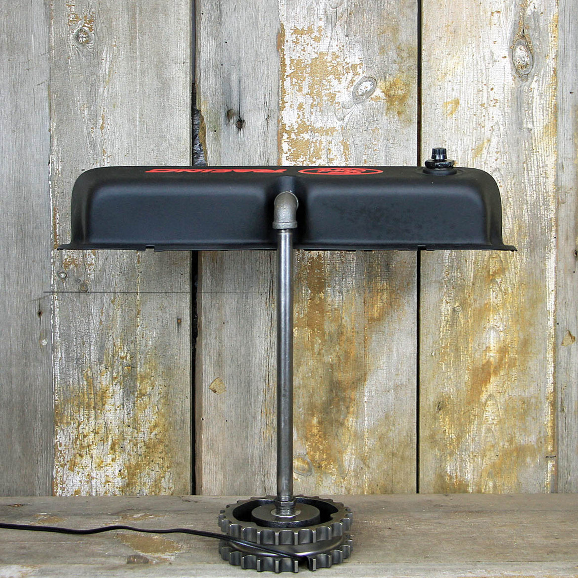 Ford Industrial Desk Lamp - Steampunk Ford Racing Lamp #209 - The Lighting Works