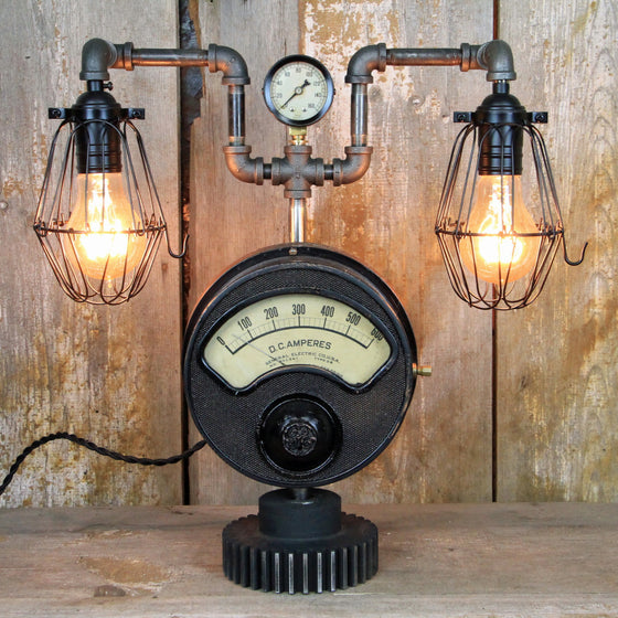 Industrial Desk Lamp - Steampunk Table Lamp #213 - The Lighting Works